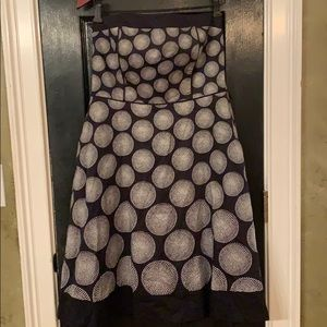 White House Black Market midi strapless dress 6